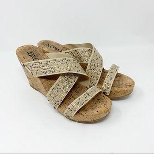 XOXO Benji Studs cork wedge heels sandals SH2